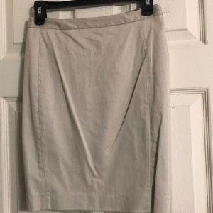 Knee length beige skirt !